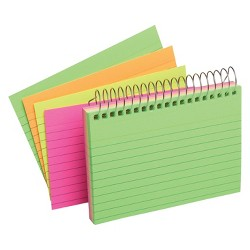 "Index Cards Top Spiral Ruled 3"" x 5"" Multicolor - Up&Up™"
