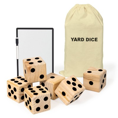 Beyond Outdoors Wooden Yard Dice Lawn Bowling Set