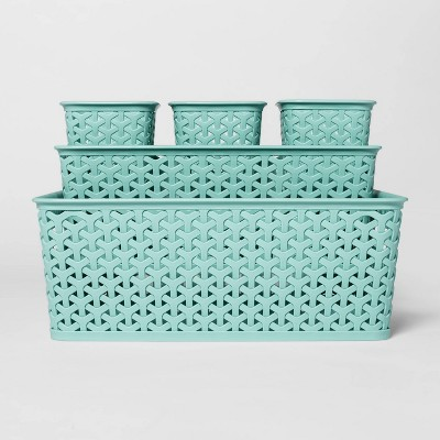 5pc Y-Weave Value Pack Bin Jade Green 5 x11  - Room Essentials™