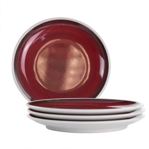 Studio California Cobalt Bay 4 Piece 9 Inch Melamine Round Dessert Plate Set In Red Target