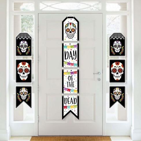 Big Dot Of Happiness Day Of The Dead Hanging Vertical Paper Door Banners Halloween Sugar Skull Party Wall Decoration Kit Indoor Door Decor Target
