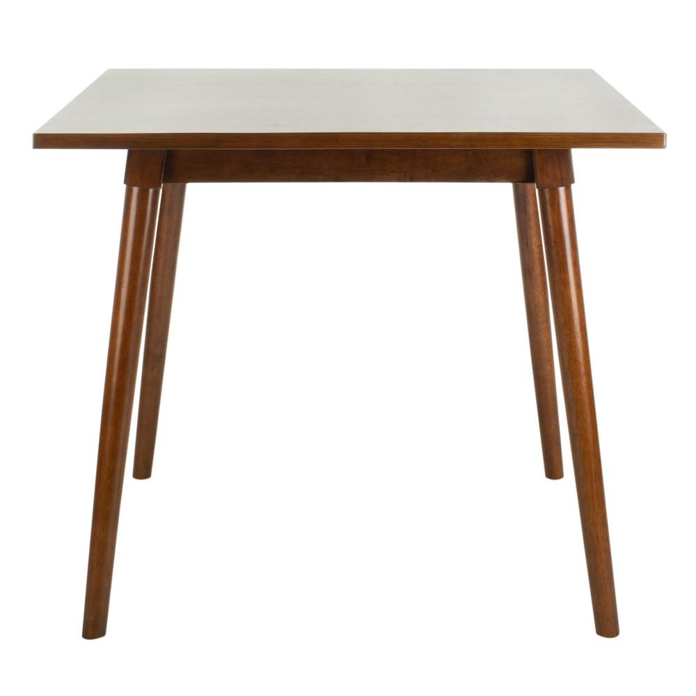 Simone Square Dining Table Walnut (Brown) - Safavieh