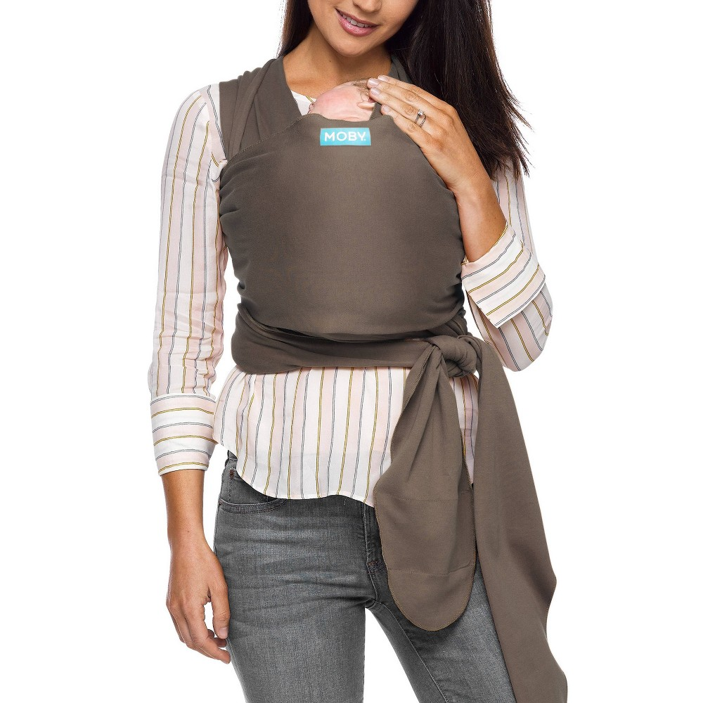 Image of Moby Classic Wrap Baby Carrier - Cocoa, Brown