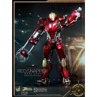 Sideshow Collectibles Iron Man 3 Hot Toys 1:6 Power Pose Collectible Figure: Red Snapper Mark XXXV
