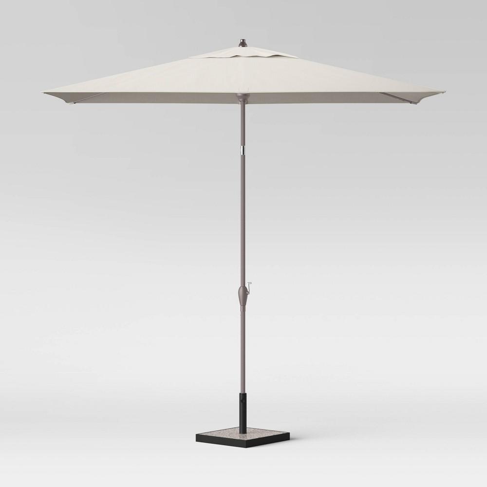 Image of 10' Rectangular Patio Umbrella Cream - Black Pole - Project 62 , Ivory