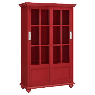 "Capewood Bookcase with Sliding Glass Doors 51"" - Room & Joy"