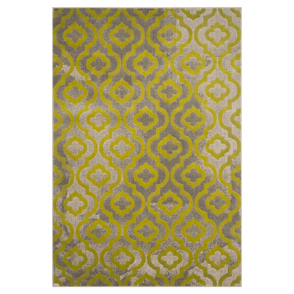Milo Area Rug - Light Gray / Green ( 6' X 9' ) - Safavieh, Light Grey/Green
