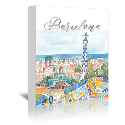 Americanflat Barcelona by Cami Monet Wrapped Canvas