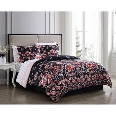 Leni Floral 8pc Comforter Set - Geneva Home Fashion