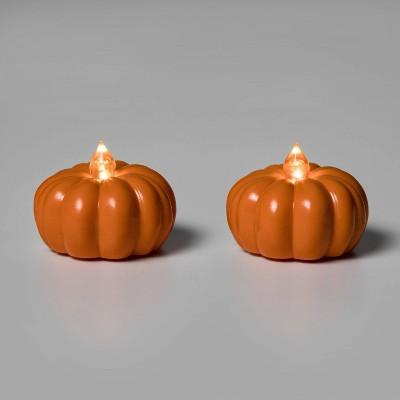 2pk LED Pumpkin Shaped Halloween Tea Lights - Hyde & EEK! Boutique™