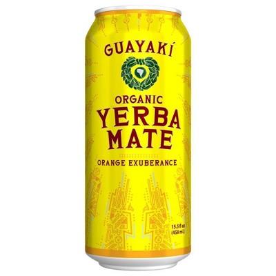 Guayaki Yerba Mate Orange Exuberance - 15.5 fl oz Can