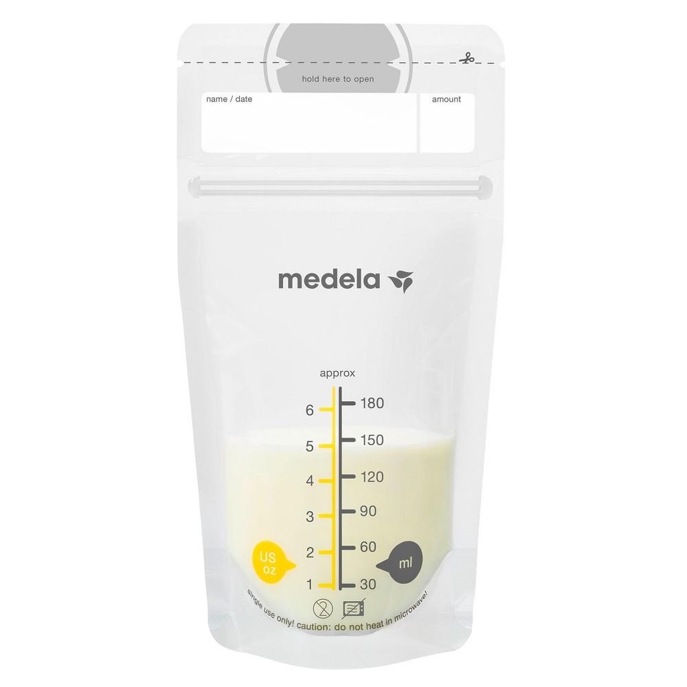 Medela Breast Milk Storage Bags 6oz/180ml - 100ct, Clear