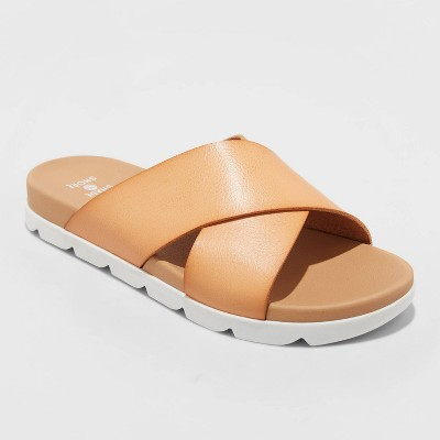 Women's Mary Crossband Slide Sandals - Shade & Shore™ Tan