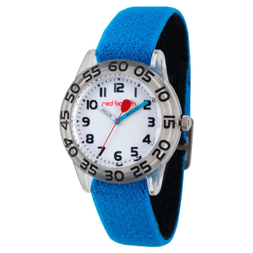 Boys' Red Balloon Clear Plastic Time Teacher Watch - Blue