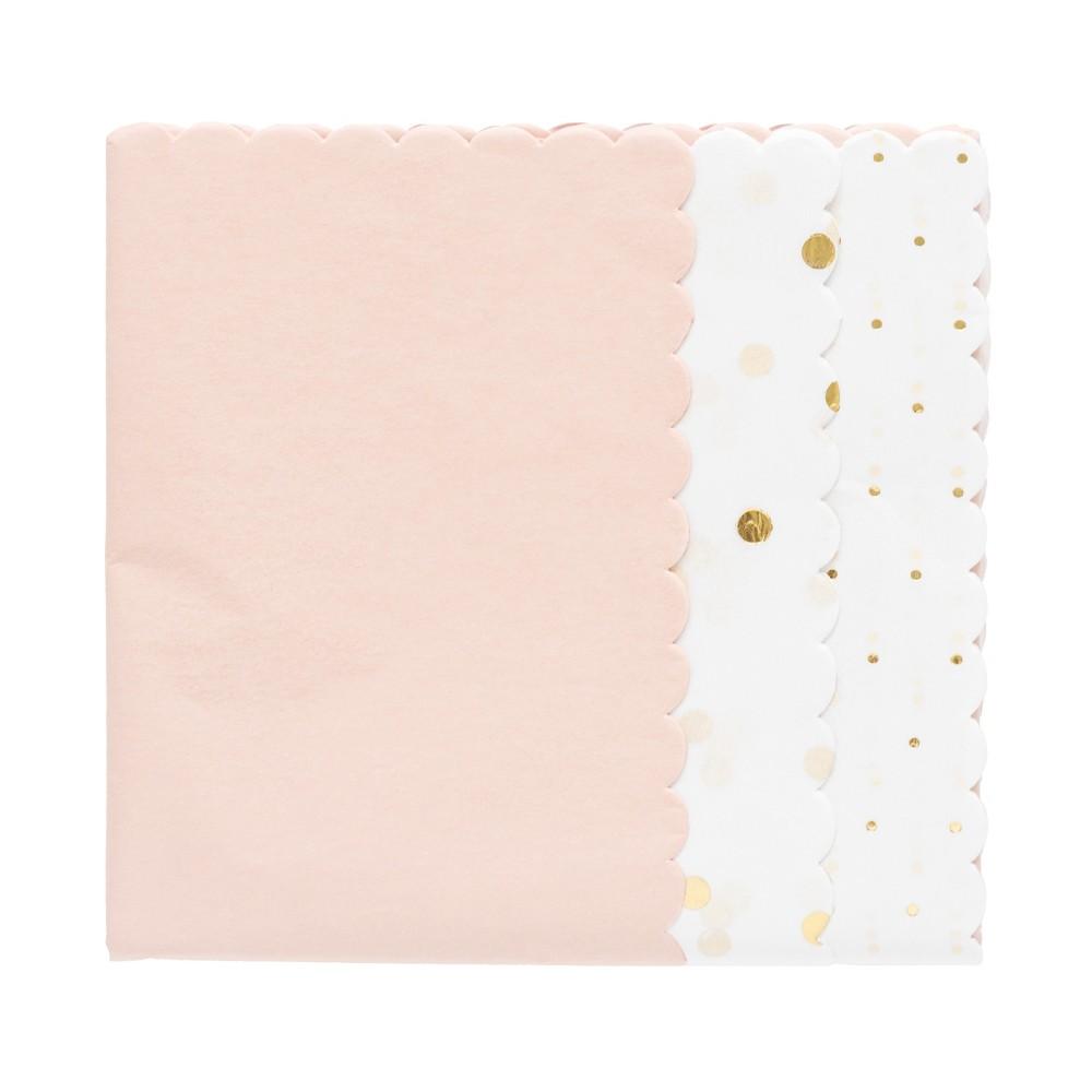 Pale Pink Scallop Gift Tissue - sugar paper, Blush Peach