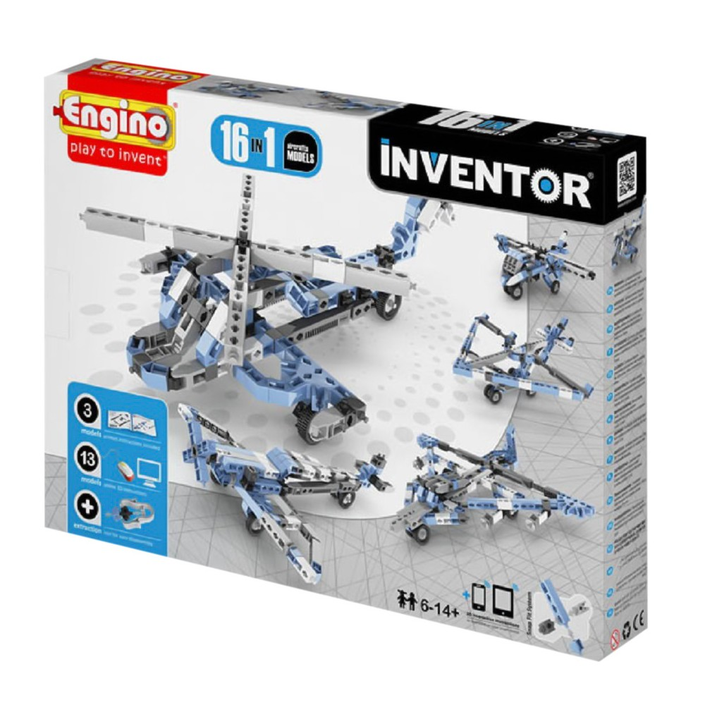 Engino Inventor Build 12 Models Aircrafts Construction Kit