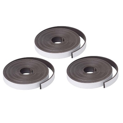 """3 Rolls 1"""" x 10ft Magnet Strips with Adhesive - Dowling Magnets"""