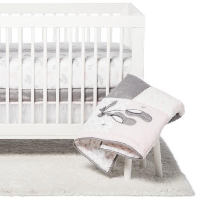NoJo Crib Bedding Set - Ballerina Bows - 4pc - Gray