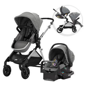Evenflo Pivot Xpand Modular Travel System with Safemax Infant Car Seat-Percheron