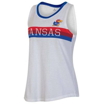 NCAA Kansas Jayhawks Women's White Tank Top