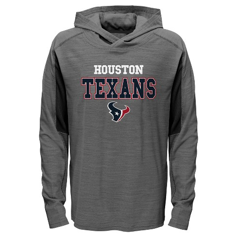promo code 7001a b5d4b Houston Texans Boys' Sideline Speed Gray Lightweight Hoodie XS