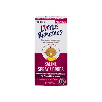 Children's Little Remedies for Noses Saline Drops - 1 fl oz