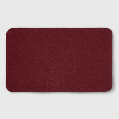 23 x37  Soft Nylon Solid Bath Rug Maroon - Opalhouse™