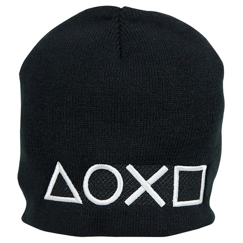 sony playstations buttons logo winter beanie hat target. Black Bedroom Furniture Sets. Home Design Ideas