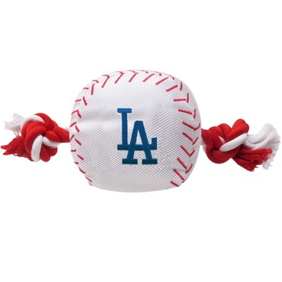 Los Angeles Dodgers Nylon Pets First Baseball Rope Dog Toy