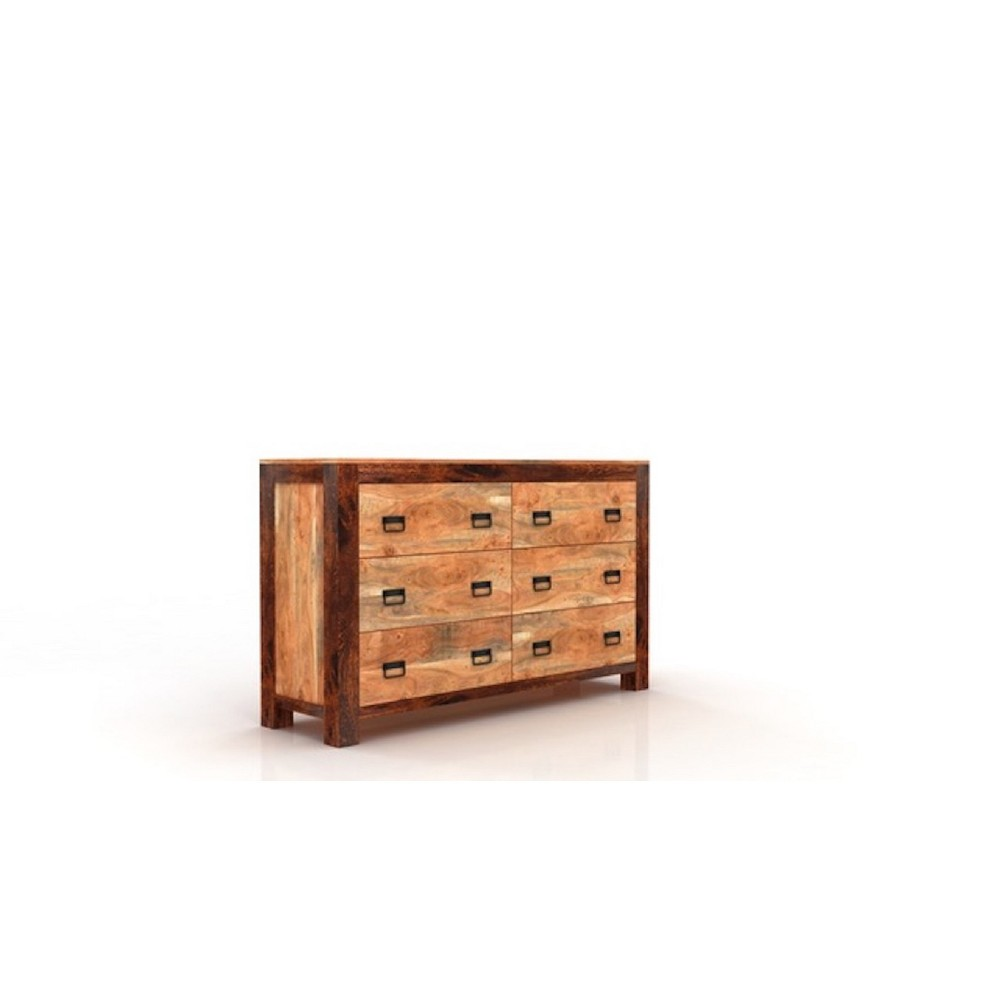 Image of Ajmer 6 Drawer Chest Natural - Timbergirl