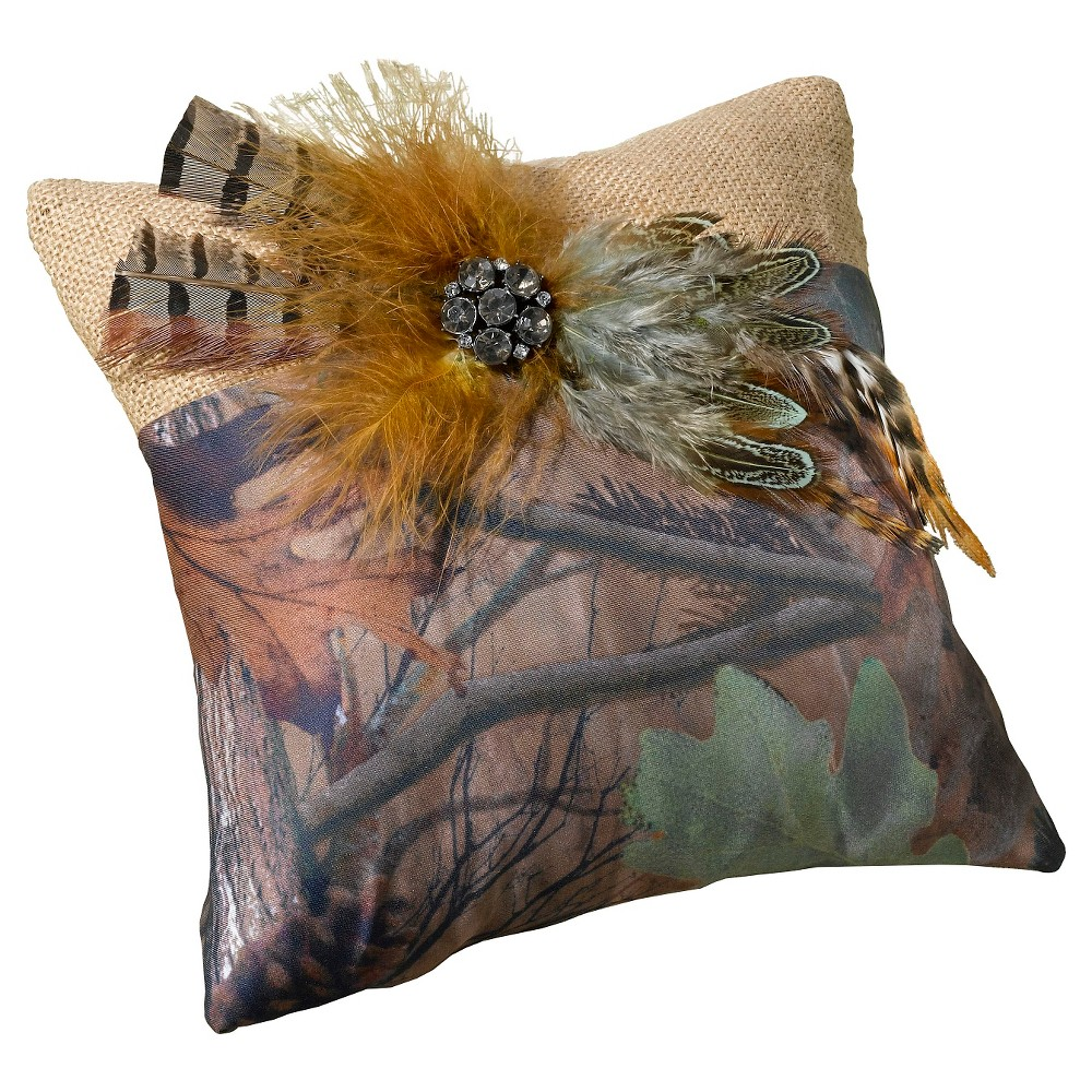 Camouflage Ring Bearer Pillow, Multi-Colored