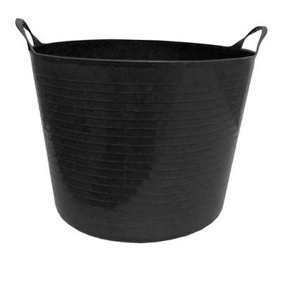 Tuff Stuff Products F12-BK Large 12 Gallon Plastic Flex Tub with Handles, Black