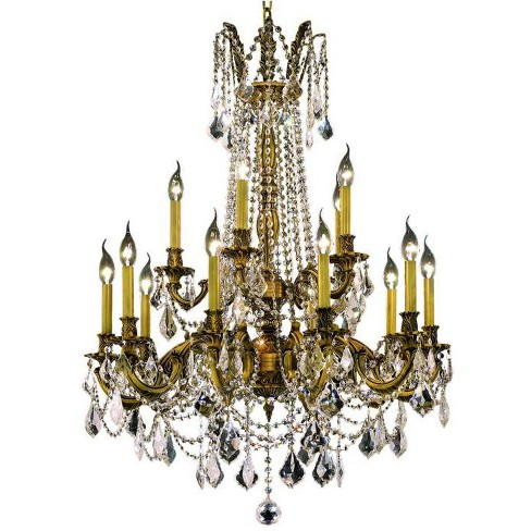 Elegant Lighting 9215D28FG Rosalia 15-Light, Two-Tier Crystal Chandelier, Finished in French Gold - image 1 of 1