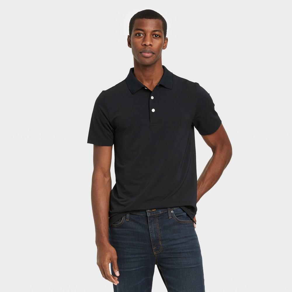 Men 39 S Short Sleeve Performance Polo Shirt Goodfellow 38 Co 8482 Black S