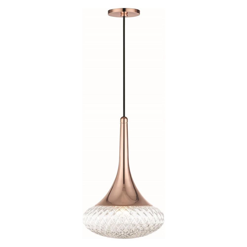 1pc Bella Light Pendant Style D Copper (Brown) - Mitzi by Hudson Valley