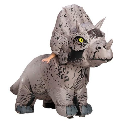 Adult Jurassic World Fallen Kingdom Tricaratops Inflatable Halloween Costume - image 1 of 1