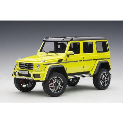 Mercedes Benz G500 4X4 2 Electric Beam/ Yellow 1/18 Model Car by Autoart - image 1 of 4