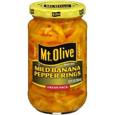 Mt. Olive Mild Banana Pepper Rings - 12oz