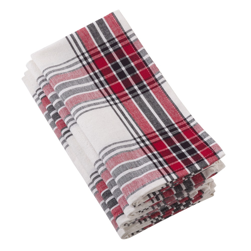 Green Red And Black Plaid Table Runner - Saro Lifestyle, Multi-Colored
