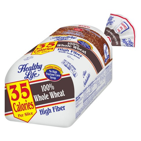 Healthy Life High 100% Whole Wheat Bread- High fiber - 16 oz - image 1 of 7