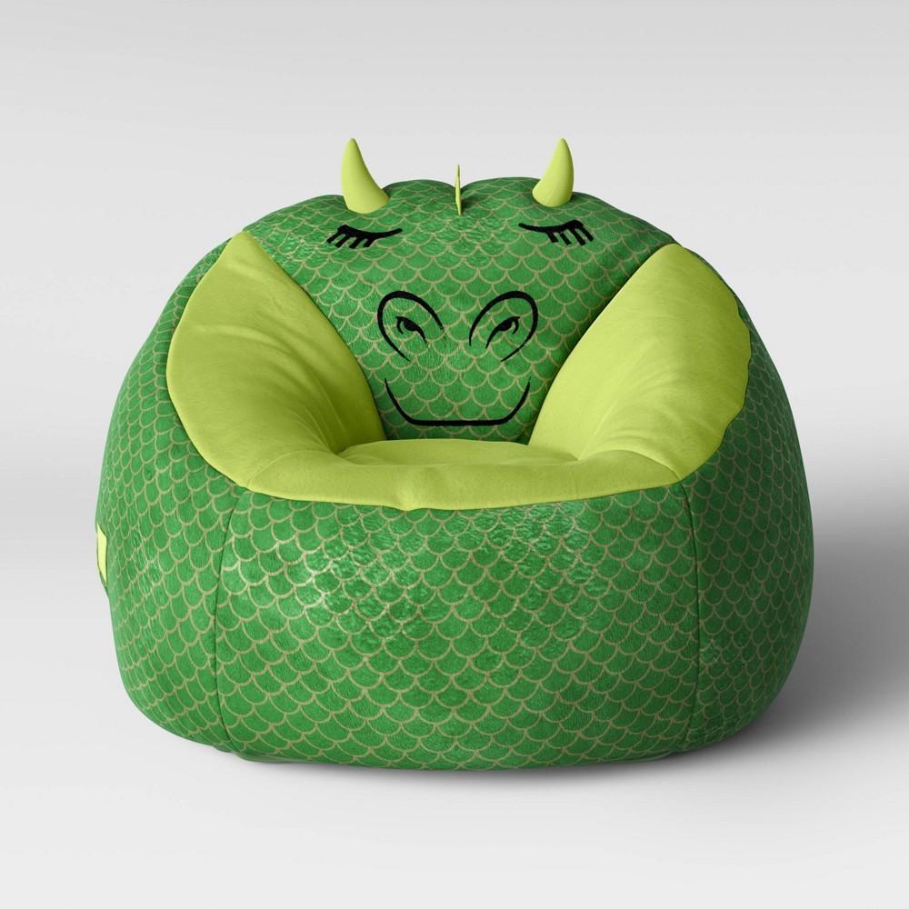 Fabulous Character Bean Bag Chair Green Dragon Pillowfort Machost Co Dining Chair Design Ideas Machostcouk