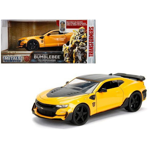 2016 Chevrolet Camaro Blebee Yellow From Transformers Movie 1 24 Cast Model Car By Jada Metals
