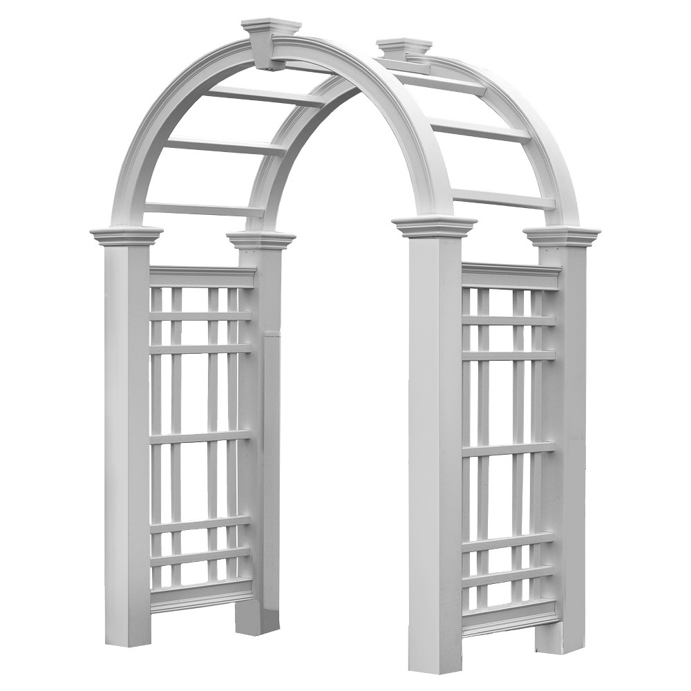 Image of Westchester Arbor Garden 32 Decorative Structures - White - Arbors - New England Arbors