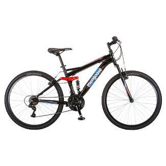 """Mongoose Men's Standoff 26"""" Mountain Bike - Black/Red"""