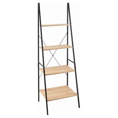"""70"""" Ladder Bookshelf Mixed Material Light Brown - ClosetMaid"""