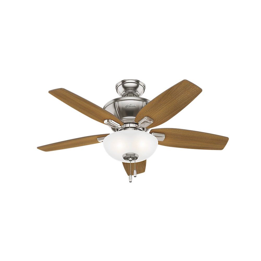 "Image of ""42"""" Kenbridge LED Lighted Ceiling Fan Brushed Nickel - Hunter Fan"""