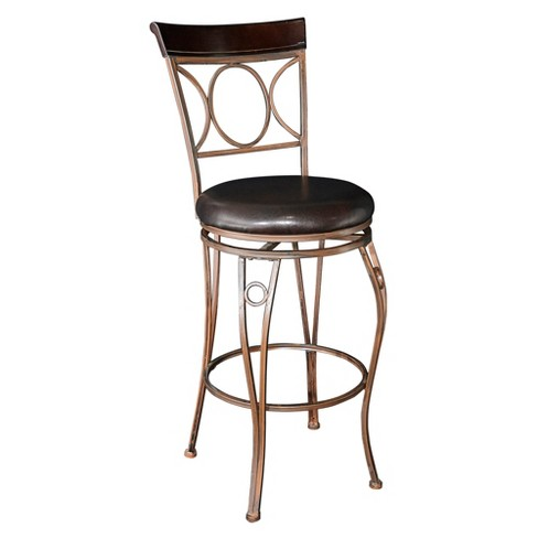 Circles Back 29 9 Quot Barstool Metal Brown Linon Target