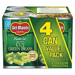 Del Monte Cut Green Beans 4 pk