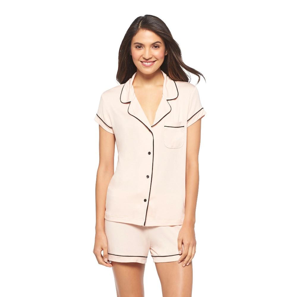 Women's Fluid Knit Shorts Pajama Set Just Peachy XS