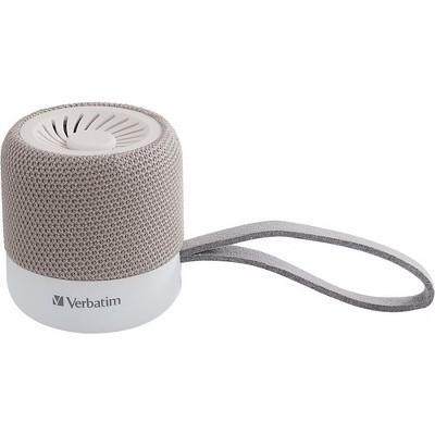 Verbatim Portable Bluetooth Speaker System - White - 100 Hz to 20 kHz - TrueWireless Stereo - Battery Rechargeable